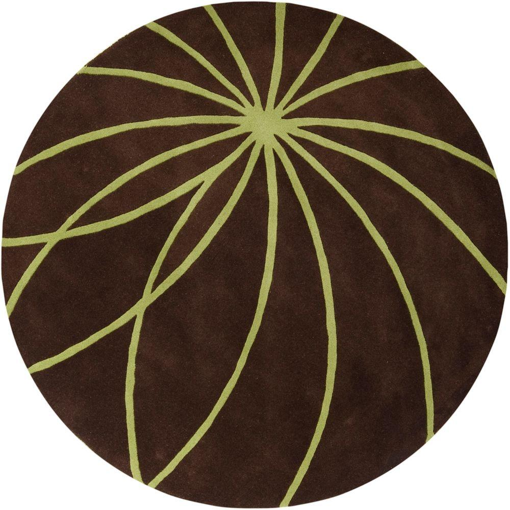 Artistic Weavers Michael Brown 4 ft. Round Area Rug
