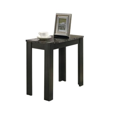 Jasmine 21.5 in. Black and Grey Wood End Table