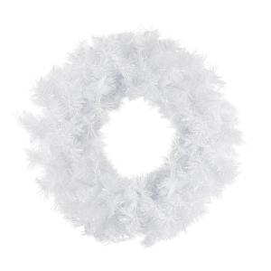 24 in. Unlit Spruce Artificial Christmas Wreath, Icy White