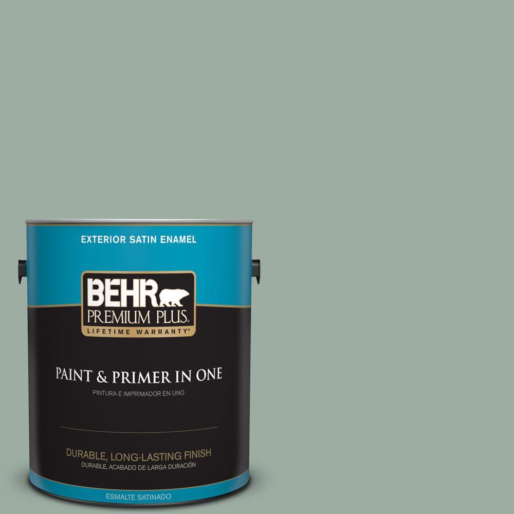 1-gal. #N420-3 Misty Moss Satin Enamel Exterior Paint