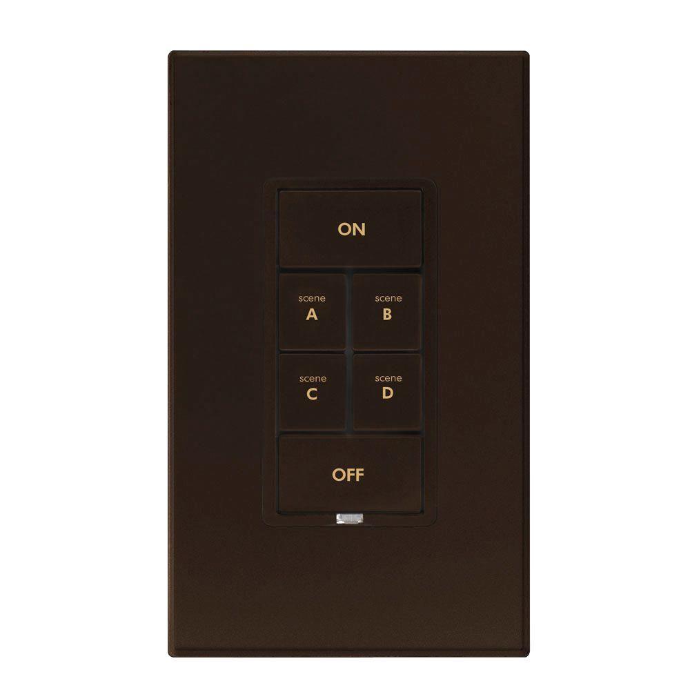 Insteon 6 Button Dimmer Keypad - Brown