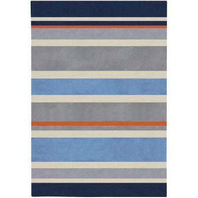 Playroom 8 X 10 Striped Kids Rugs Rugs The Home Depot