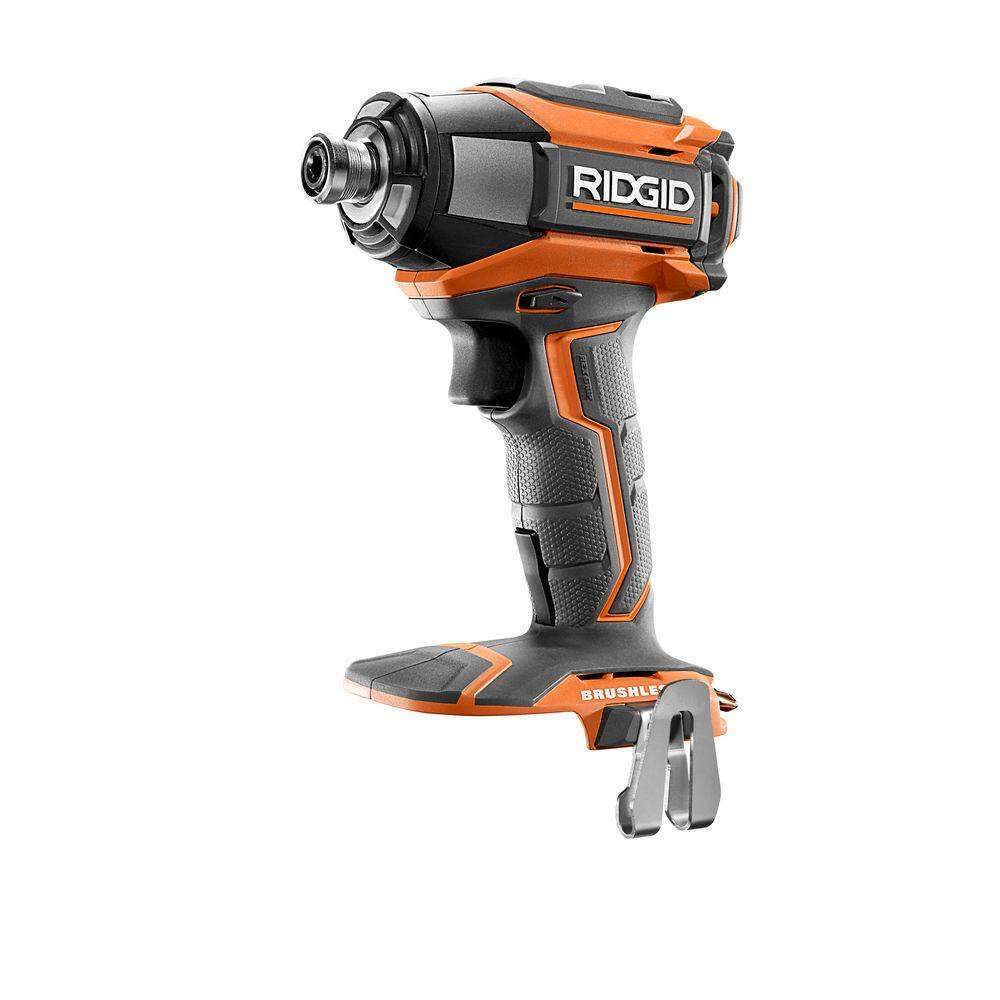 RIDGID 18-Volt Gen5X Lithium-Ion Brushless Cordless 1/4 in. Impact Driver (Tool-Only) with Belt Clip