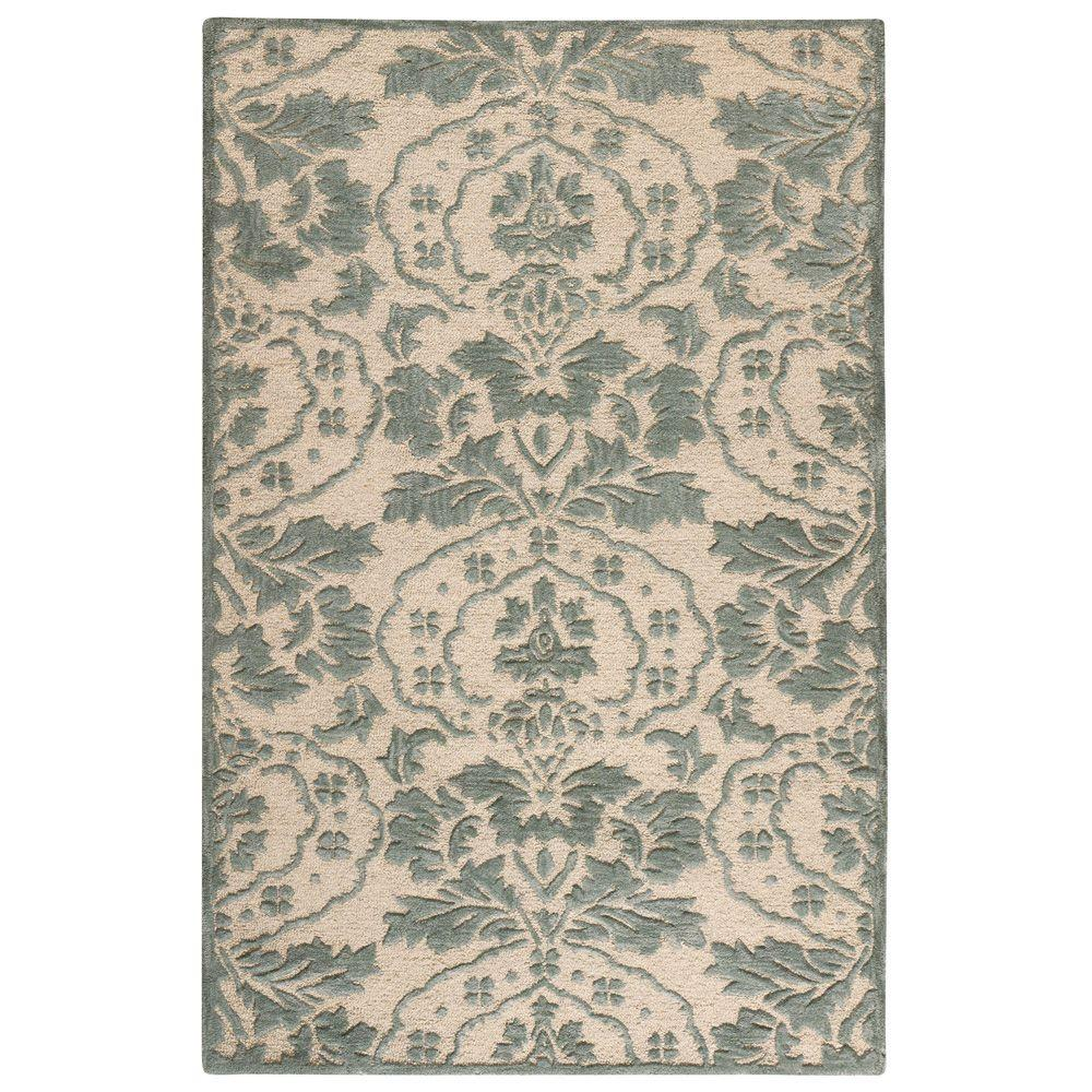 Home Decorators Collection Amberley Natural and Green 5 ft. 3 in. x 8 ft. 3 in. Area Rug