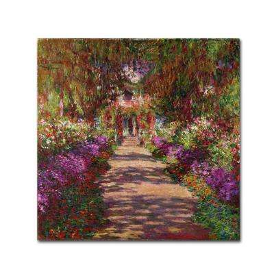 24 in. x 24 in. A Pathway in Monets Garden Canvas Art