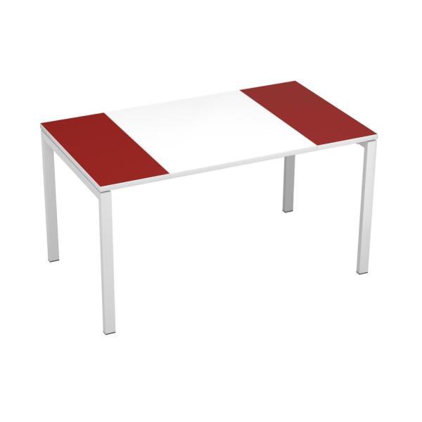 Paperflow Easydesk White Middle With Maroon Ends 55 In Long Training Table