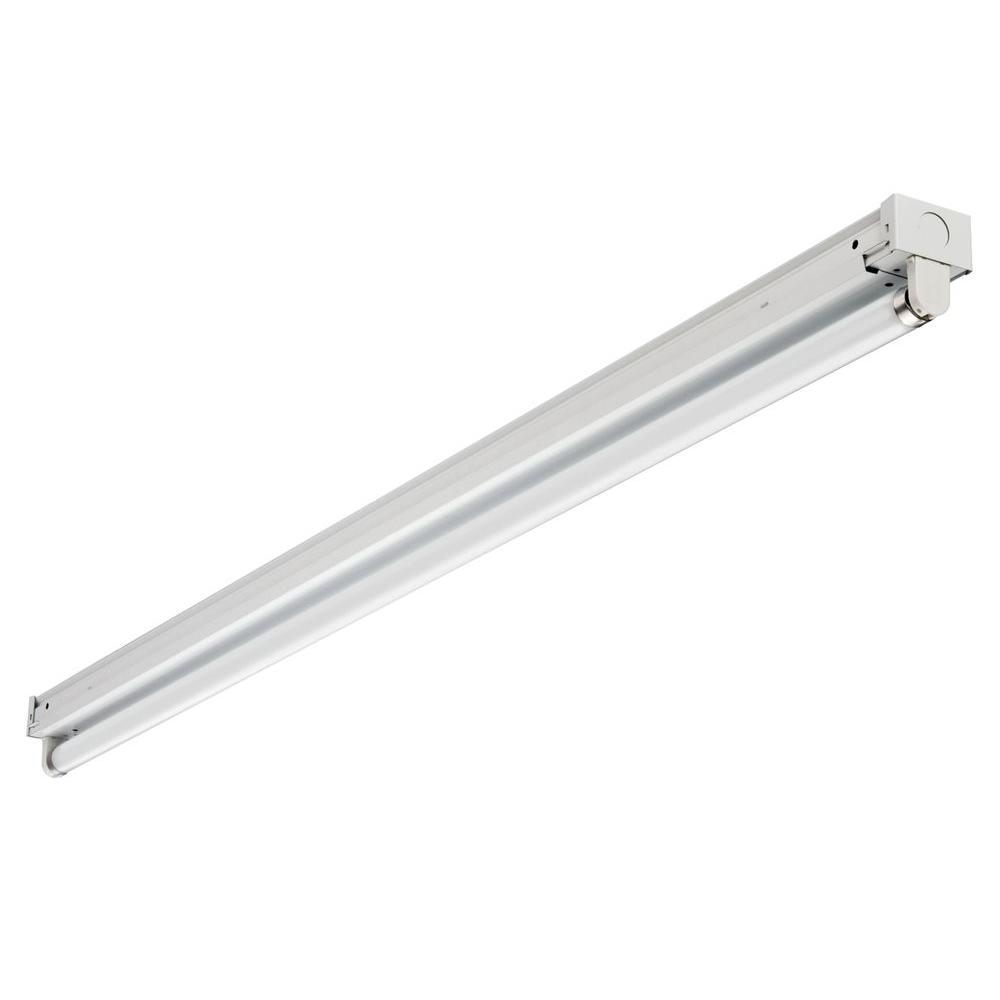 1-Light 4 ft. Gloss White T8 Fluorescent Strip Light