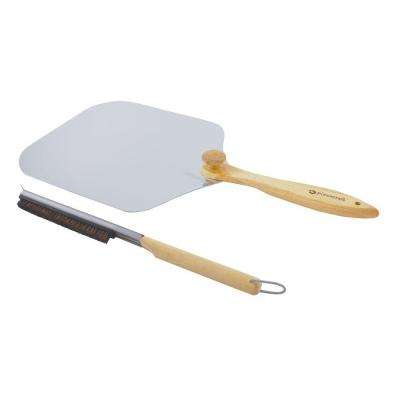 2-Piece Pizza Peel with Oven Brush