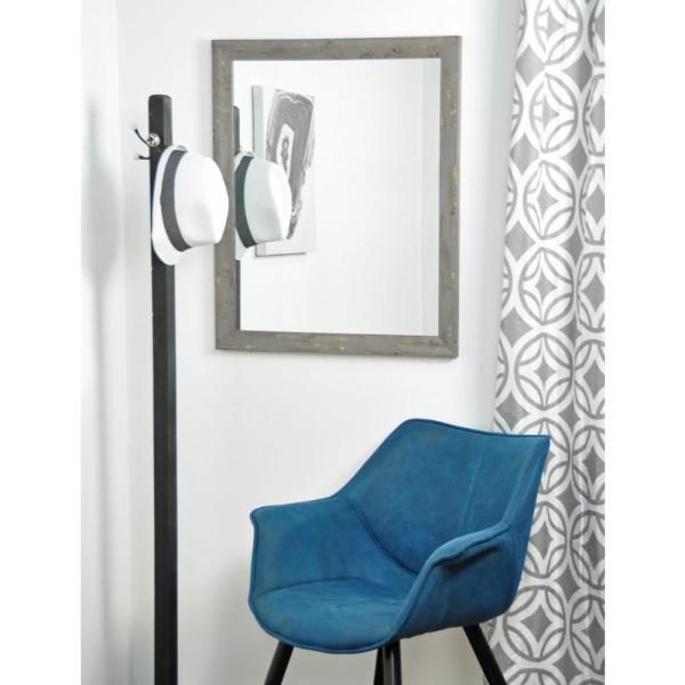 BrandtWorks Madame Gray Gold Leaf Wall Mirror BM050L