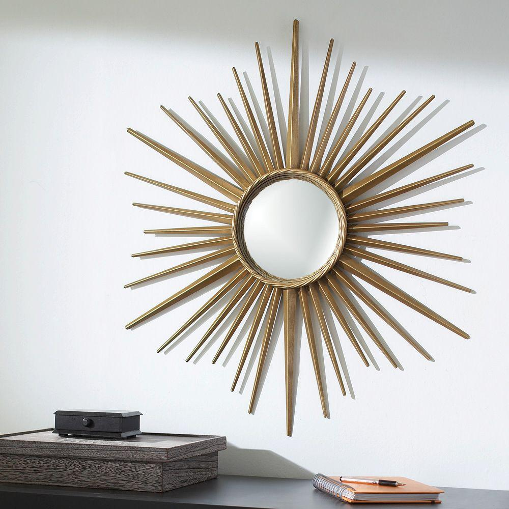 Martha Stewart Living Wales 30 in. x 30 in. Metal Antique Gold Framed Mirror