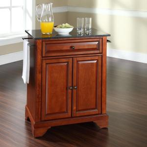 Lafayette Cherry Portable Kitchen Island with Granite Top