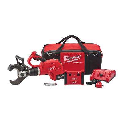 M18 18-Volt Lithium-Ion Cordless FORCE LOGIC 3 in. Underground Cable Cutter w/Wireless Remote Kit W/ (1) 5.0Ah Battery