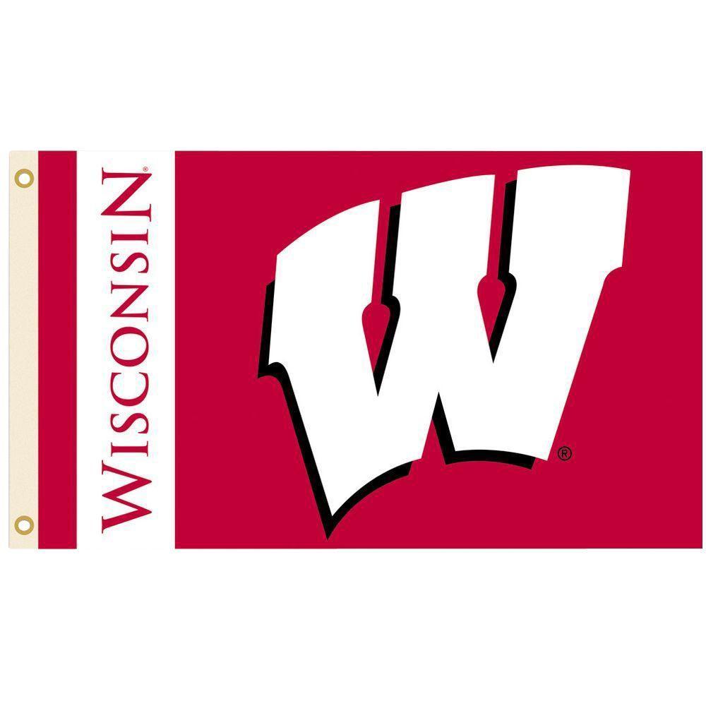 NCAA 3 ft. x 5 ft. Wisconsin Flag