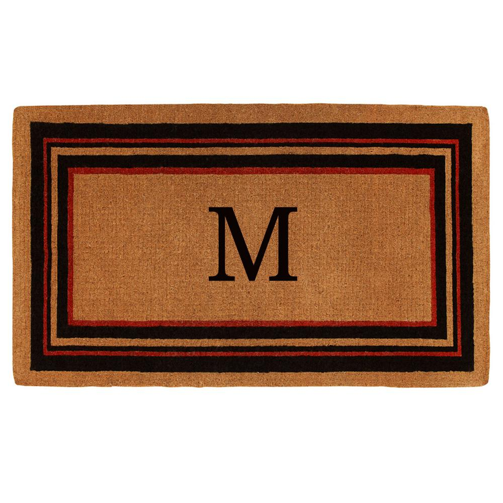 Bathroom Rugs 36 X 72: Home & More Esquire Extra-Thick 36 In. X 72 In. Monogram M