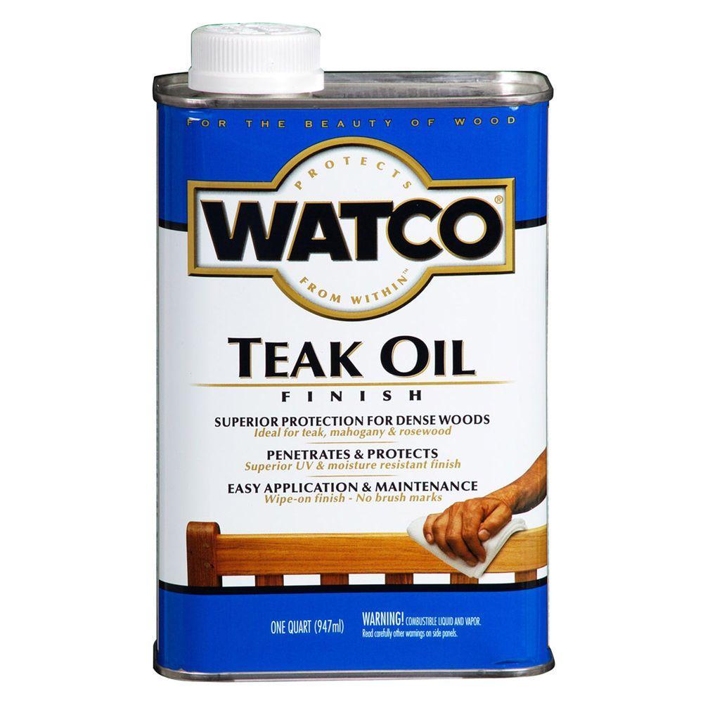 Watco 1 qt. Clear Matte 275 VOC Teak Oil