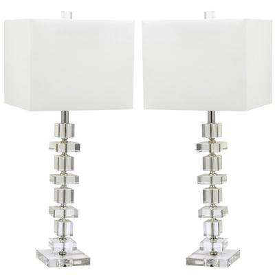 Deco 28.5 in. Clear Crystal Table Lamp (Set of 2)