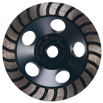 4.5 in. Turbo Row Diamond Cup Wheel in Smooth Finish