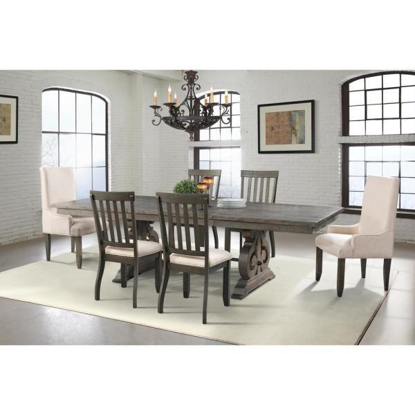 Picket House Furnishings Stanford Dining 7 Piece Set Table 4 Side Chairs And 2 Parson Chairs Dst100sp6pc The Home Depot