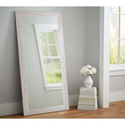 Rich Rustic Rectangle Brown/White Floor Mirror