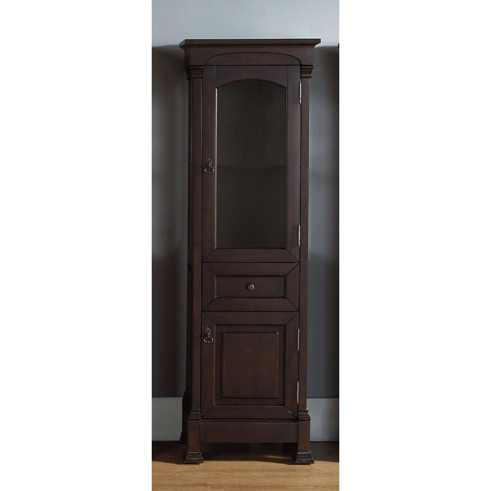Brookfield 20.50 in. W x 16.25 in. D x 65 in. H Double Door Floor Cabinet in Burnished Mahogany