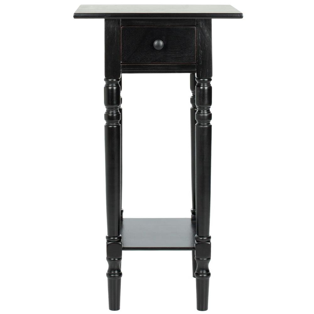 Safavieh Sabrina Distressed Black End Table