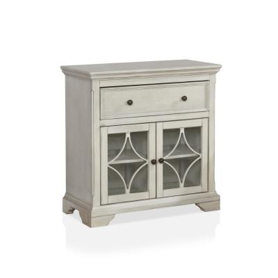 Pittens Antique White Accent Cabinet with 1-Drawer