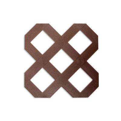 0.125 in. x 48 in. x 8 ft. Mustang Brown Traditional Plastic Lattice (2-Pack)