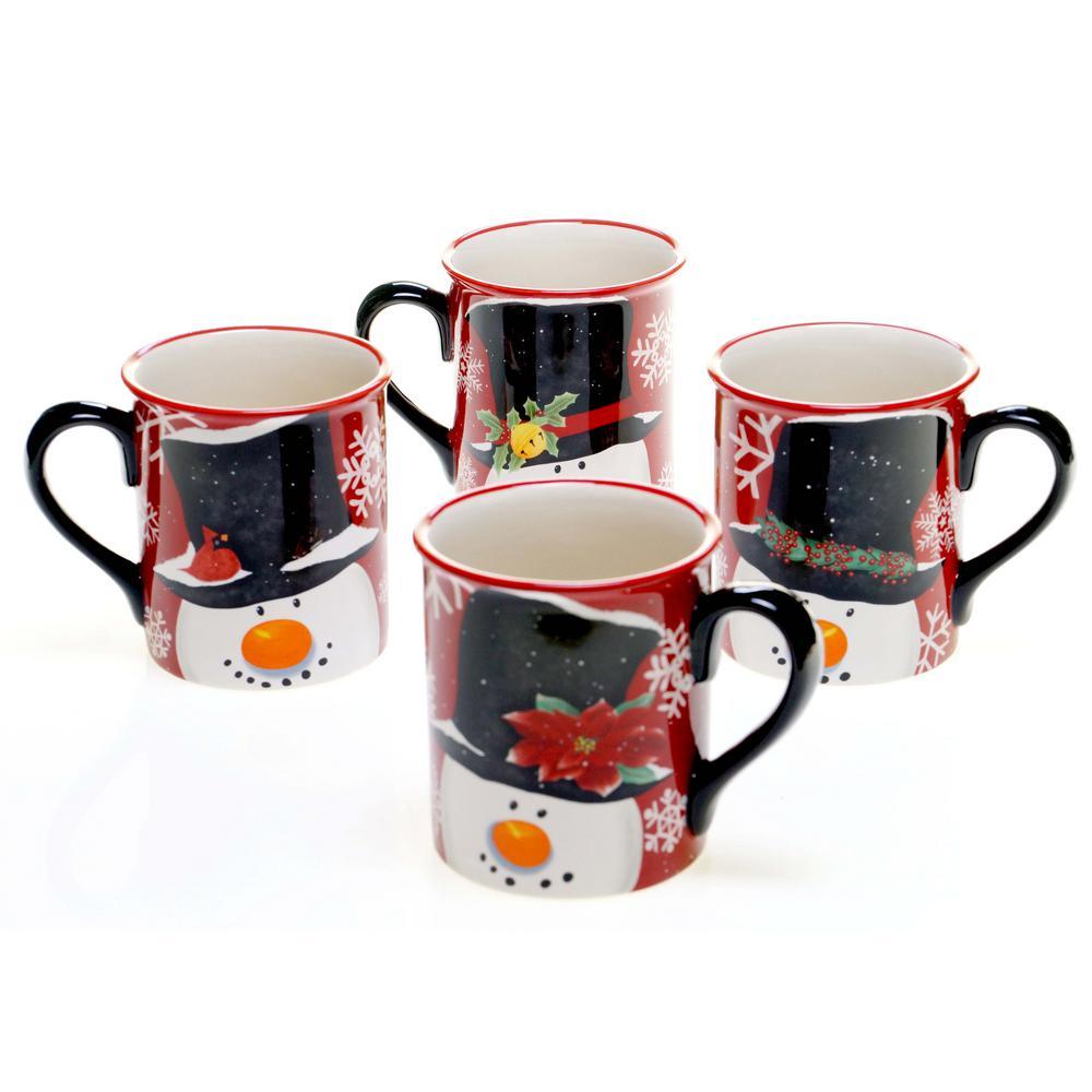 Top Hat Snowman 16 oz. Mug (Set of 4)