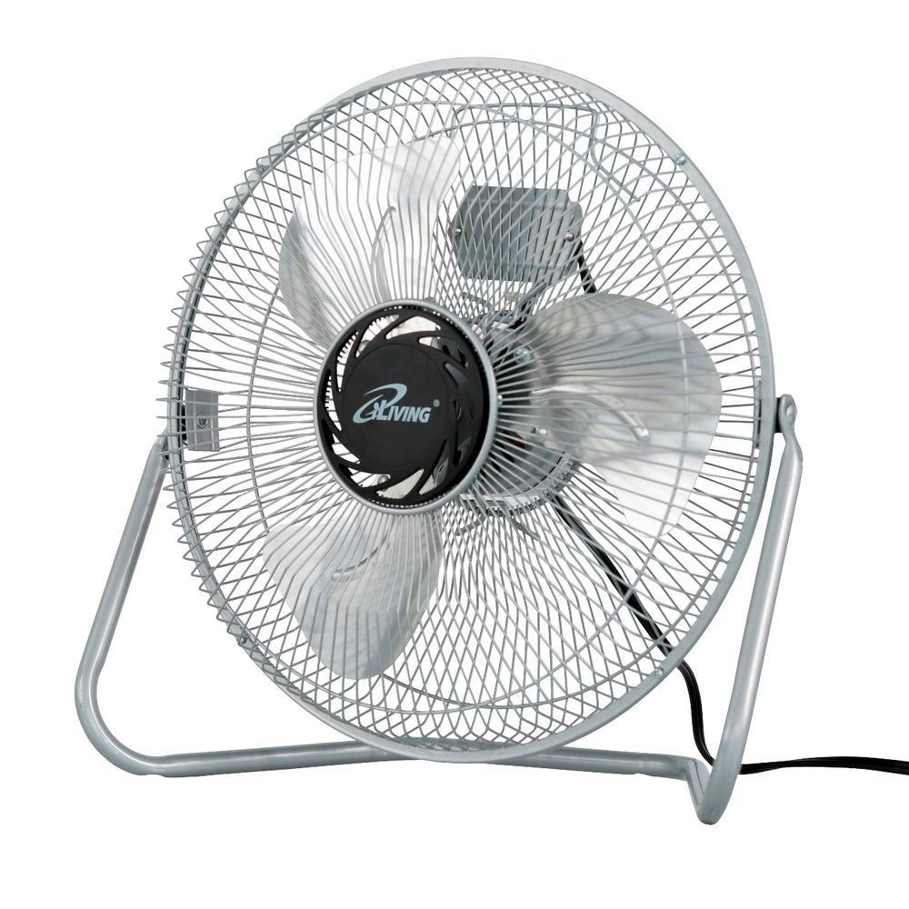 iLIVING 12 in. 3 Speed High Velocity Floor Fan