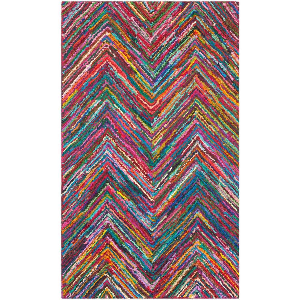 Safavieh Nantucket Pink/Multi 6 ft. x 9 ft. Area Rug