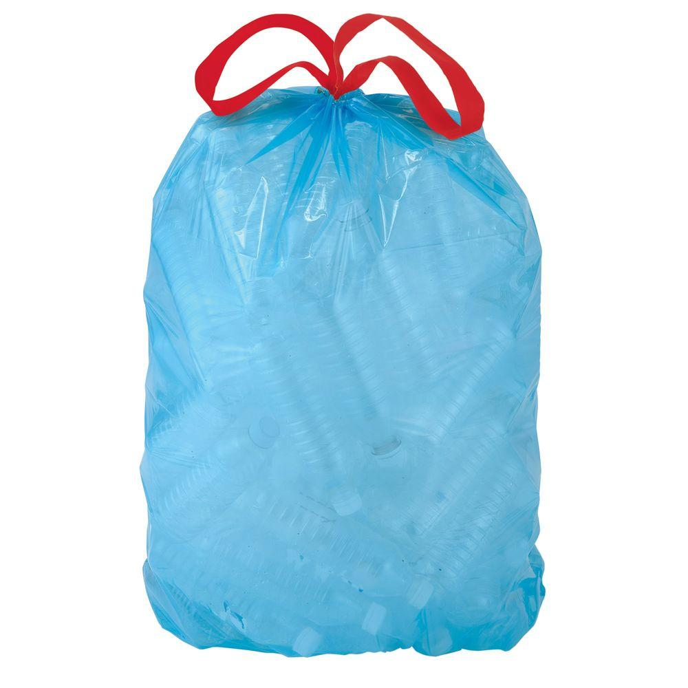 Professional Residential Blue Recycling Bags 50-Count HUSKY 30 gal