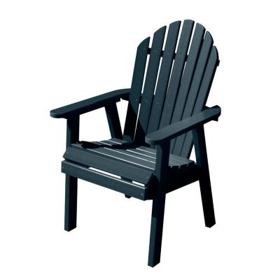Hamilton Federal Blue Plastic Outdoor Dining Chair