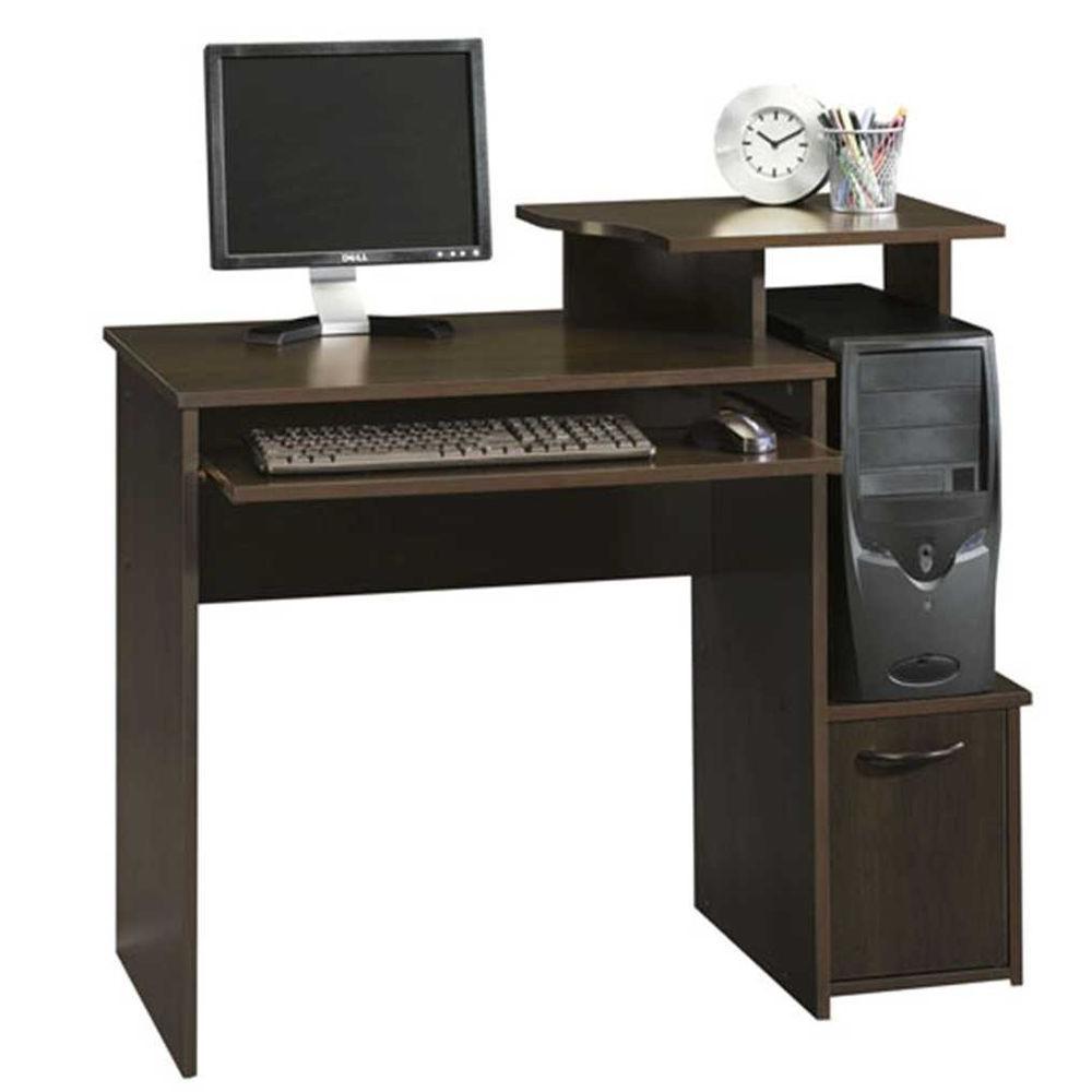 beginnings cinnamon cherry desk with storage