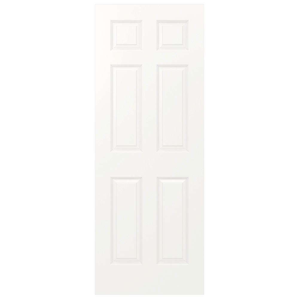 JELD-WEN 30 in. x 80 in. Colonist White Painted Smooth Solid Core Molded Composite MDF Interior Door Slab