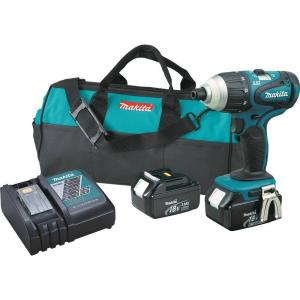 Makita 18-Volt LXT Lithium-Ion 1/4 inch Cordless Hybrid Impact Driver Kit with (2) Batteries 3.0Ah, Charger... by Makita