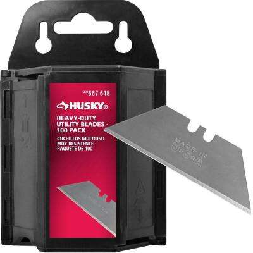 Heavy-Duty Utility Blades Dispenser (100-Pack)