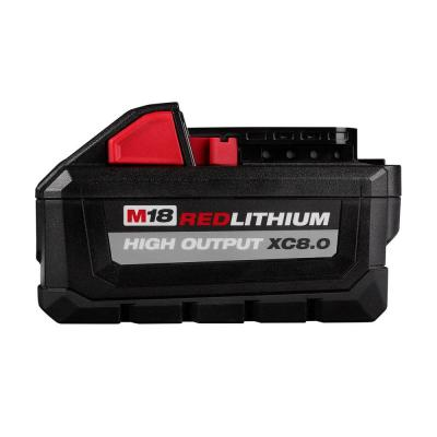 M18 18-Volt Lithium-Ion HIGH OUTPUT XC 8.0 Ah Battery