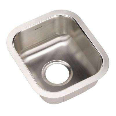 Club Series Undermount Stainless Steel 13 in. Single Bowl Kitchen Sink in Lustrous Satin