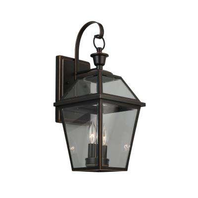 French Quarter Gas Style 2-Light Outdoor Wall Lantern Sconce