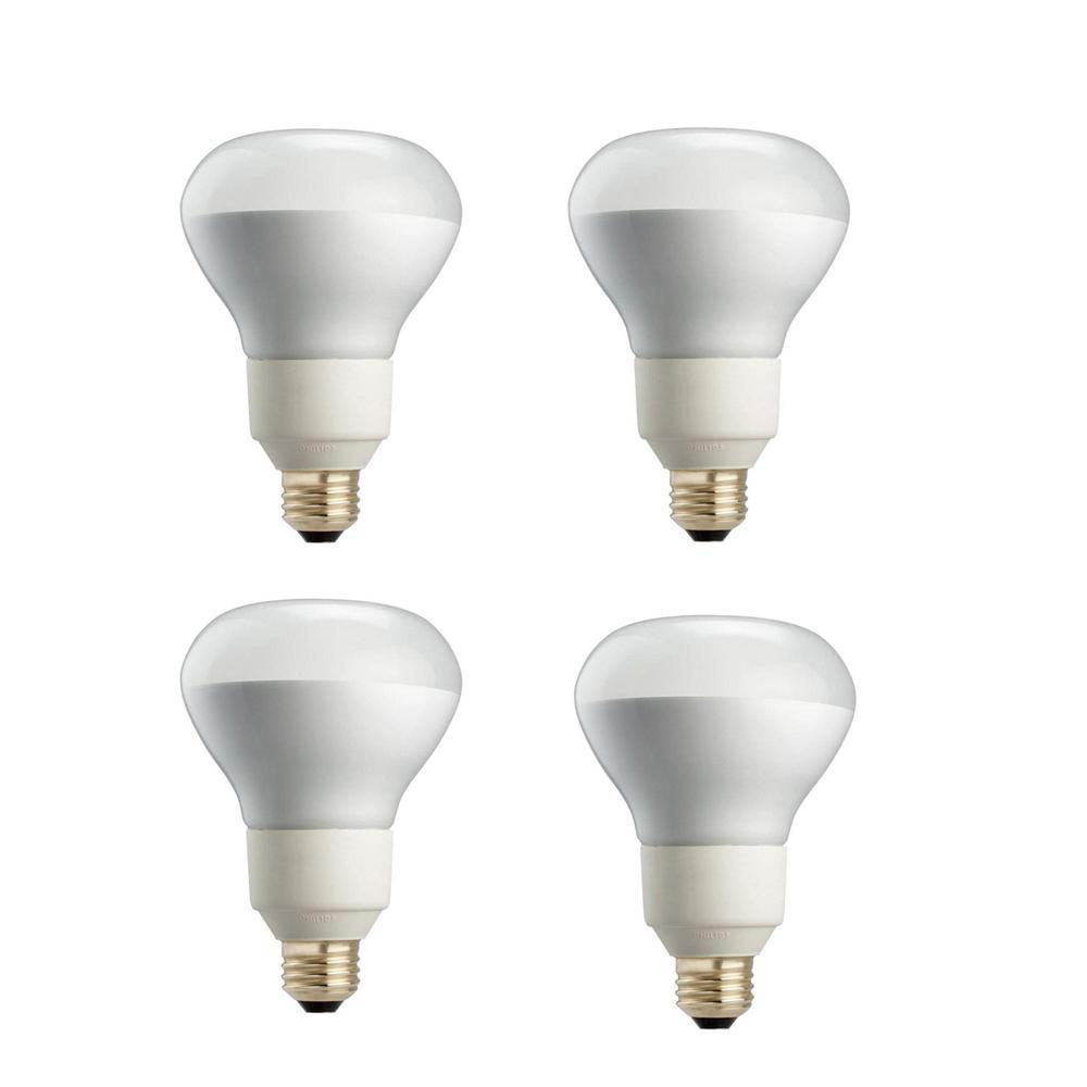 Philips 85 Watt Equivalent R40 Dimmable Cfl Flood Light Bulb Soft White 4