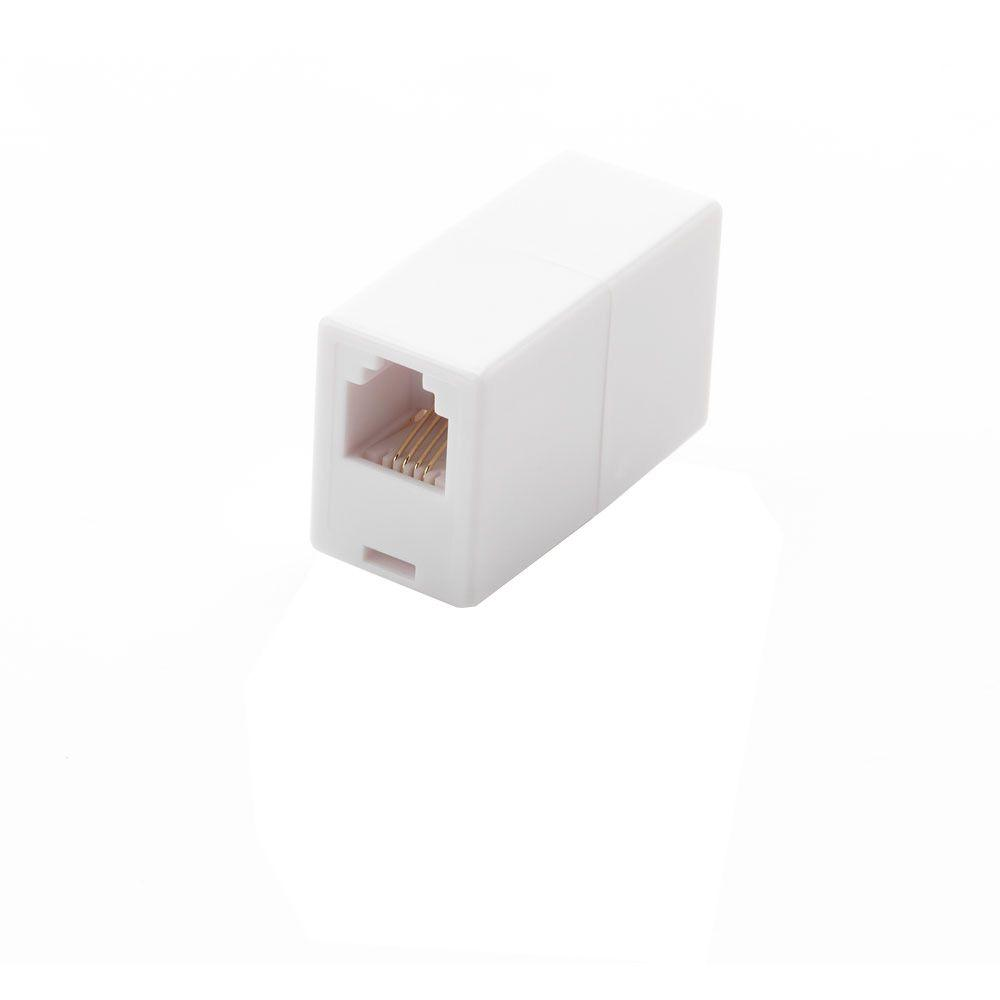 telephone accessories phones the home depot Telephone RJ11 Wiring -Diagram in line telephone cord coupler white