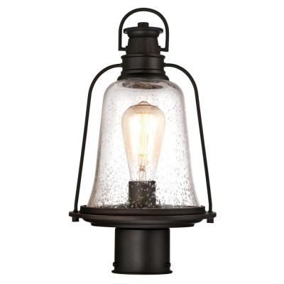 Brynn 1-Light Oil Rubbed Bronze with Highlights Outdoor Post Light
