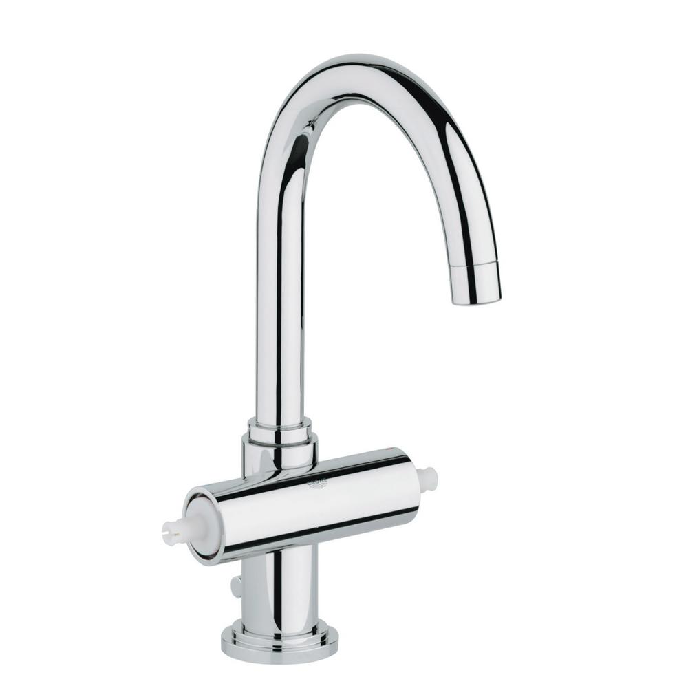 GROHE Atrio Single Hole 2 Handle High Arc Bathroom Faucet In StarLight  Chrome 2102700A   The Home Depot