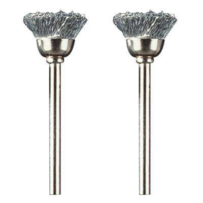 1/2 in. Carbon Steel Cup Brush for Removing Corrosion from Metal and Polishing Metal (2-Pack)