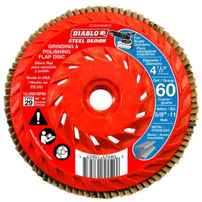 4-1/2 in. 60-Grit Steel Demon Grinding and Polishing Flap Disc with Integrated Speed Hub