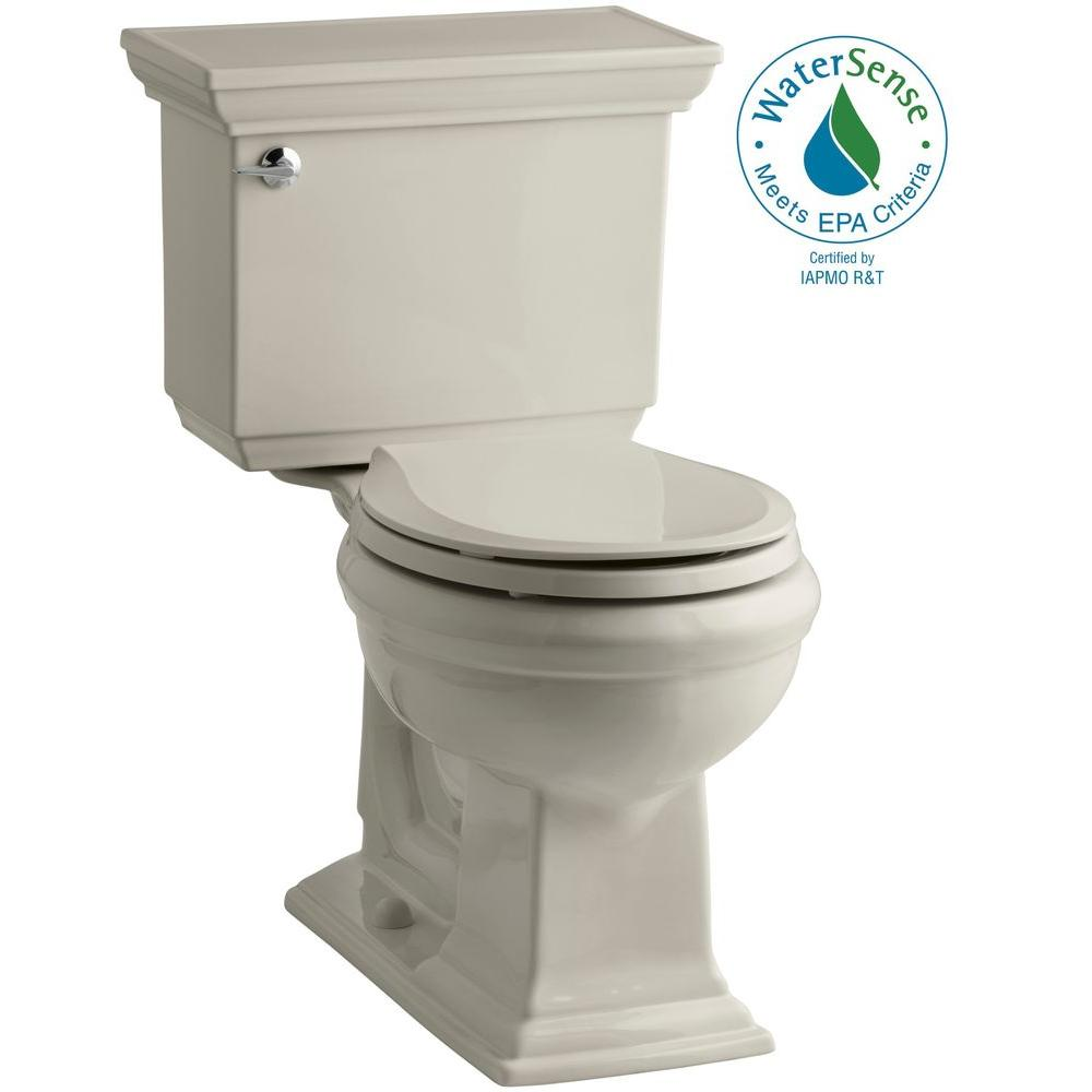 Memoirs Stately 2-piece 1.28 GPF Single Flush Round Toilet with AquaPiston