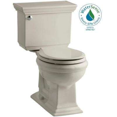 Memoirs Stately 2-piece 1.28 GPF Single Flush Round Toilet with AquaPiston Flushing Technology in Sandbar