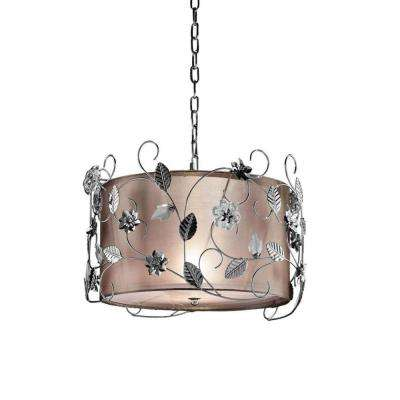 12 in. Silver Crystal Ceiling Chandelier