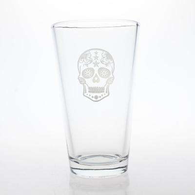 Sugar Skull 16 oz. Pint Glass (Set of 4)