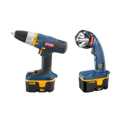 Reconditioned 18-Volt Ni-Cad Cordless 2 HP Drill Combo Kit